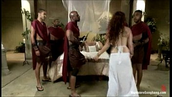 Roman orgy - Ganbanged roman royal fucked by her black guards