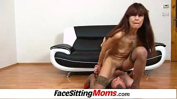 Licking old pussy woman A guy is eating old hairy pussy of skinny granny lada
