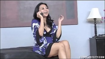 Biggest Asian Facial Ever? Little Asian Gets Cummed On