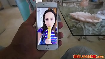 Sister Ashley Adams sneaky stepbro stole the batteries from her vibrator