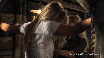 Chained Schoolgirl Groped By Lesbian Madame