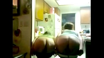 Mooning ass videos Two drunk girls in the kitchen mooning