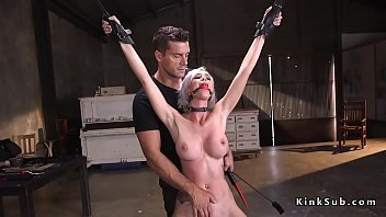 Big tits blonde fucked in bondage