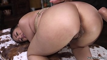 Hairy Asian whipped and anal fucked