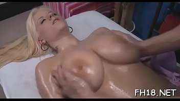Sexy 18 year old girl gets fucked hard from behind by her massagist