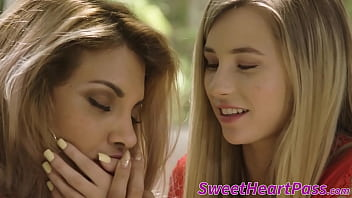 Lesbo teen Carolina Sweets seduced by latina MILF