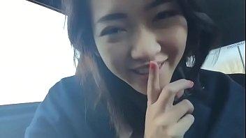Asian Pussy Twat Fingering in Car