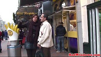 Chubby dutch prostitute ass jizzed on camera