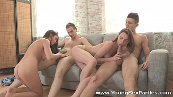 Young Sex Parties - Teen chicks Eva, Carmen Fox sharing stiff dicks