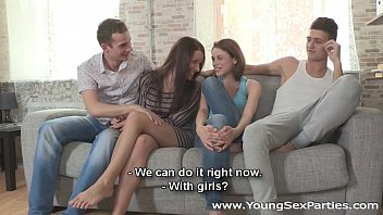 Young Sex Parties - Teen chicks Eva, Carmen Fox sharing stiff dicks