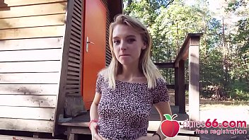 SWEET TEEN Lily Ray Gets BONED Behind An Old Shack And Swallows A Big Load! (ENGLISH) Dates66.com
