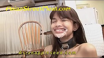 Young asian street meat young She wore stockings and a bondage collar