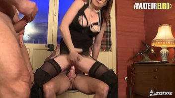 AMATEUR EURO - French MILF Missy Charme Gets Double Pleased At The Office