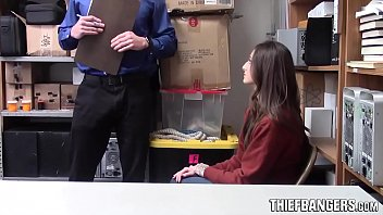 Shop Security Arrests & Fucks Hot Young Thief Kenzi Ryans