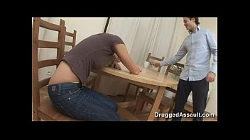 Sexy blond in jeans gets fucked