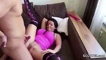 German Step-Son Caught Step-Mom Masturbate and Fuck her Anal