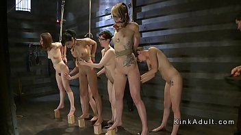 Group of female slaves whipping