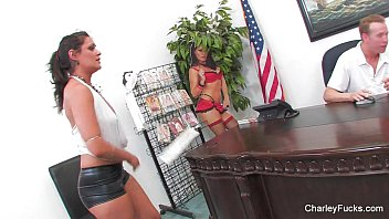 Charley Chase with Mark Wood on Desk