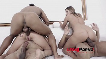 Ally Breelsen & Lola Bulgari interracial DAP with 3 massive cocks RS213