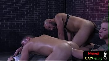 Gay extreme rough butt fucking Ass fucking and fisting threeway gets sweaty