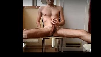 naked boy jerking outside