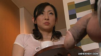 Jap mom suck - Asian milf sucking off the big fat erect pecker