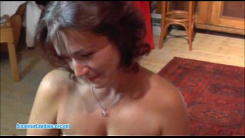 Czech MILF with big boobs does strip and rides on cock thumbnail