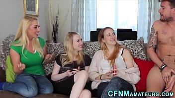 Cfnm group blonde babes