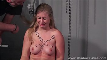 Brutal tit whipping to tears and pussy punishment of humiliated bdsm slaveslut Masie Dee