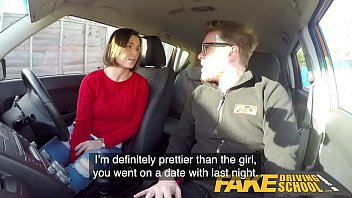 Fake Driving School Jealous learner with great tits wants hard fucking