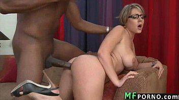 Teacher with glasses tries big black dick Velicity Von 5