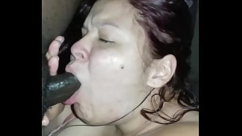 Deep throat big black cock
