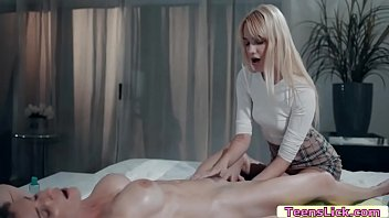 Milf boss makes her maid as her pussy licker