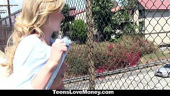 TeensloveMoney- Stranded Blonded Gives Up Pussy For Cash