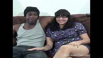 Pierced amateur fucks her boyfriends big black cock