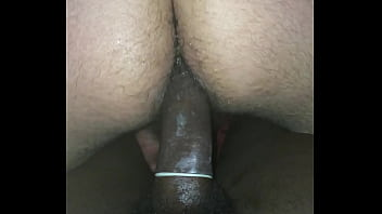 Black top fucks and slaps arab hairy ass