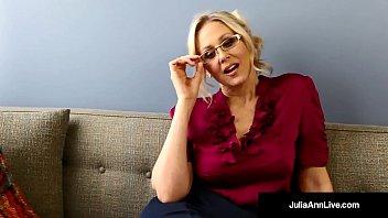 Milf julie ann - Bad teacher milf julia ann shows you pov naughty pussy rubs