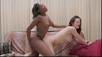 Strapon porn sex Black lesbian bangs her white friend with a strapon