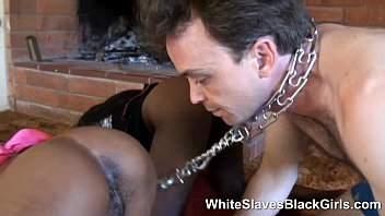 White Boy Licking dominant Black Girl ass