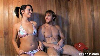 Ficando quente na sauna