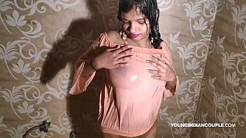 Sexy bollywood video Cute indian teen taking shower with seductive bollywood song jalta hai badan with masturbation