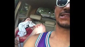 opal may dildoing in backseat of car while bbc friend drives