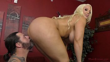Blonde Bombshell Alura Jenson Uses Her Personal Assistant As Her Slave Thumb
