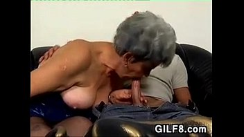 Horny Old Woman Fucks ANd Gets A Facial