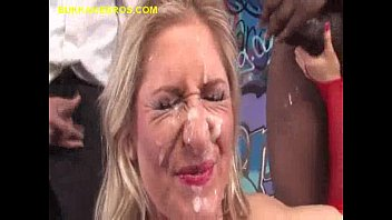 Blonde Rewarded with Black Bukkake