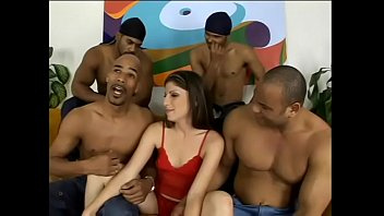 Box hat sex Four black thugs give their gravy on pretty face of nasty white chick with blue eyes katie lane after gang banging her little treasure box