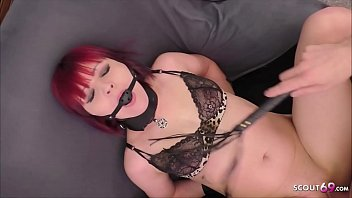 Redhead Girlfriend Use as Slave at Privat BDSM Sex German