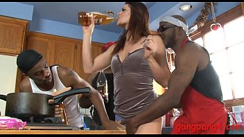 Cici Rhodes twat and asshole smashed by big black cocks