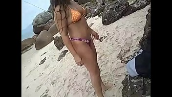 Naked men in beach Young latina wife gets naked, dances and teases men on public beach in brazil - real amateur slut