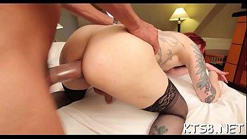 Voluptuous lady-boy bimbo loses her mind of hardcore anal